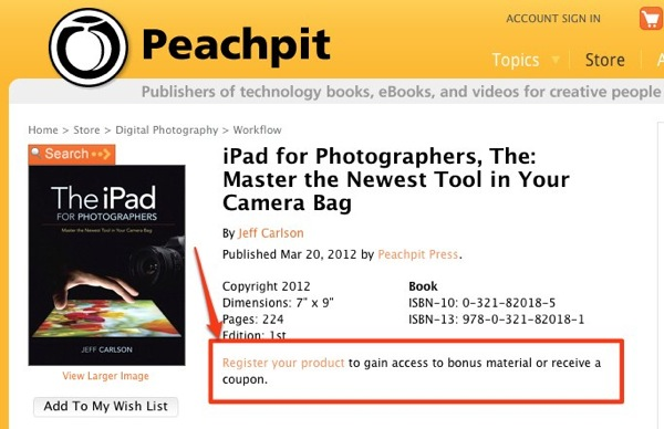 IPad for Photographers The Master the Newest Tool in Your Camera Bag | Peachpit