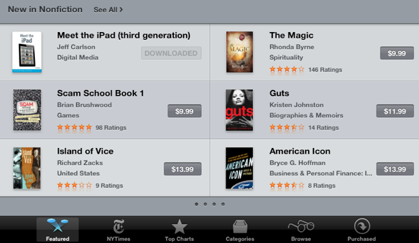 Meet the iPad3 (third generation) at the iBookstore
