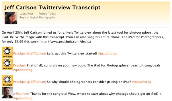Twitterview transcript