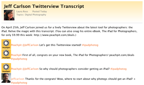 Twitterview transcript