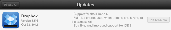 Dropbox 1.5.6 Update