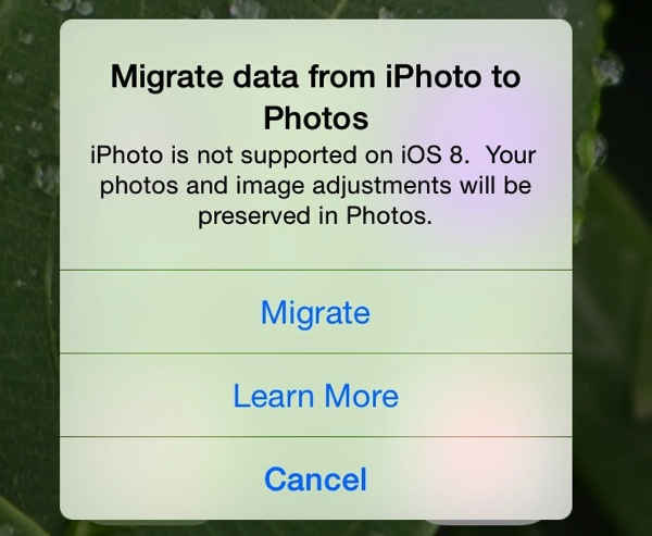 IPhoto dead migrate